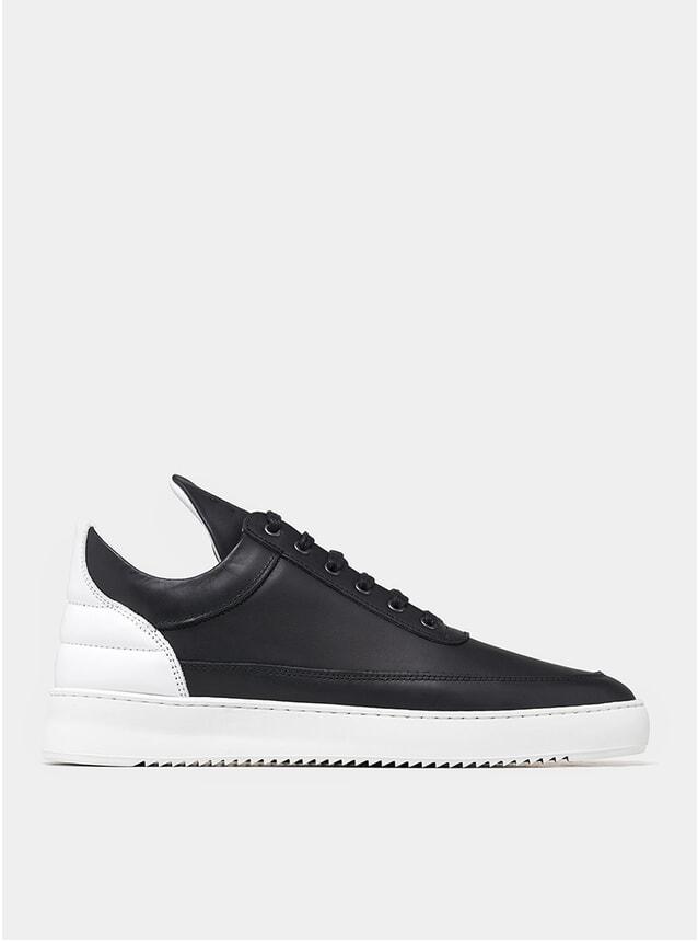 Black / White Low Top Ripple Nappa Sneakers