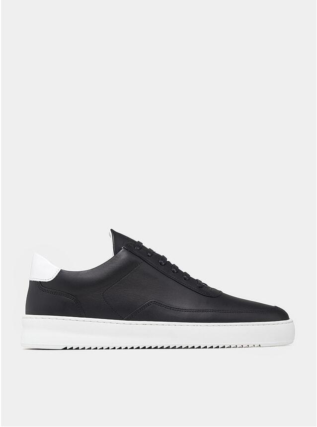 Black / White Mondo Ripple Nappa Sneakers