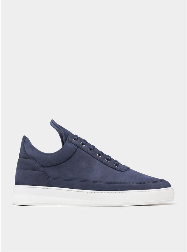 Blue Nubuck Low Top Sneakers