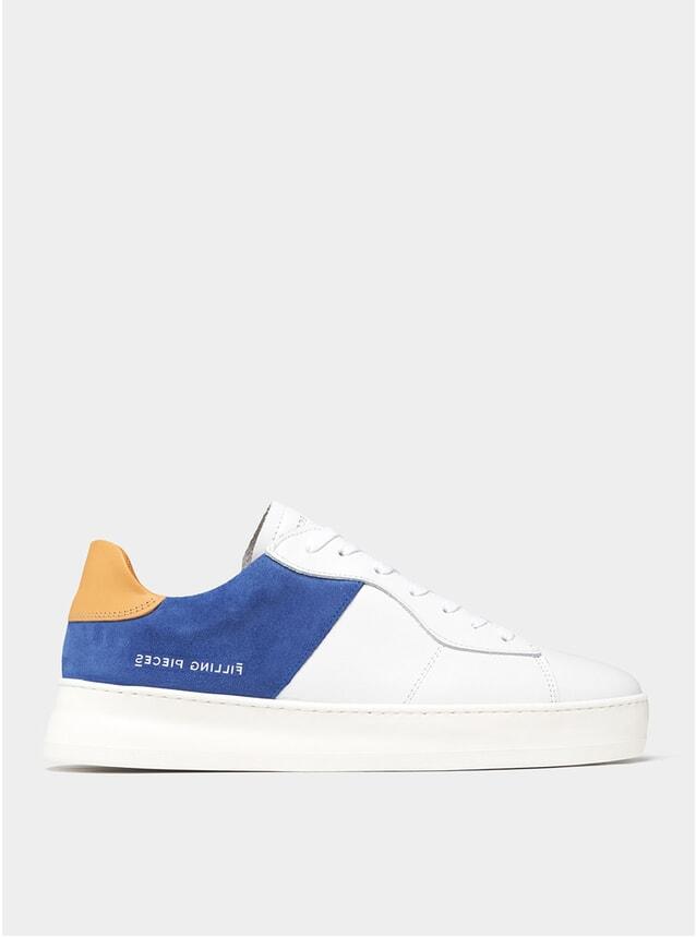 Cobalt Blue Low Court Plain Sneakers