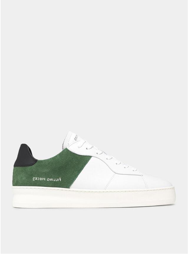 Dark Green / Black Low Plain Court Sneakers