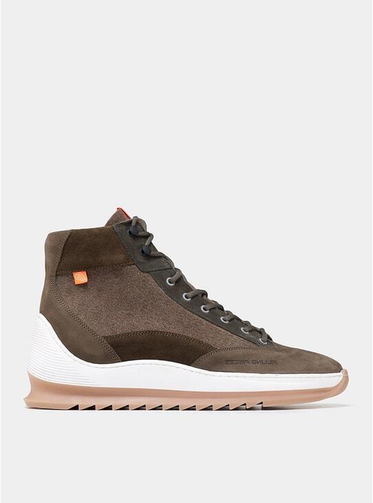 Dark Green Mid Alpine Aten Heel Cap Boots
