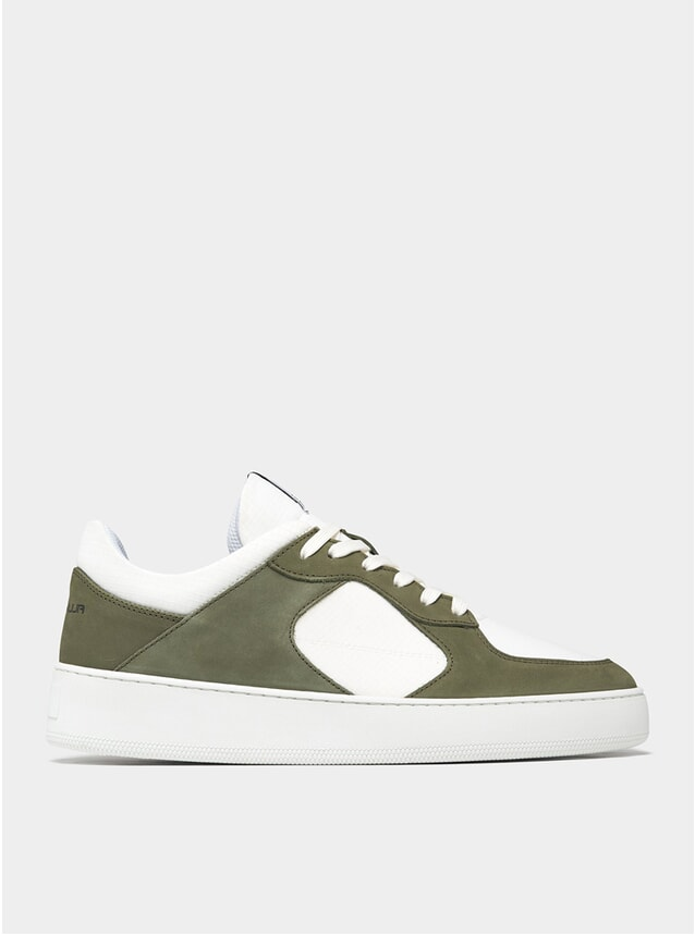 Dark Green / White Low Cage GF Sneakers