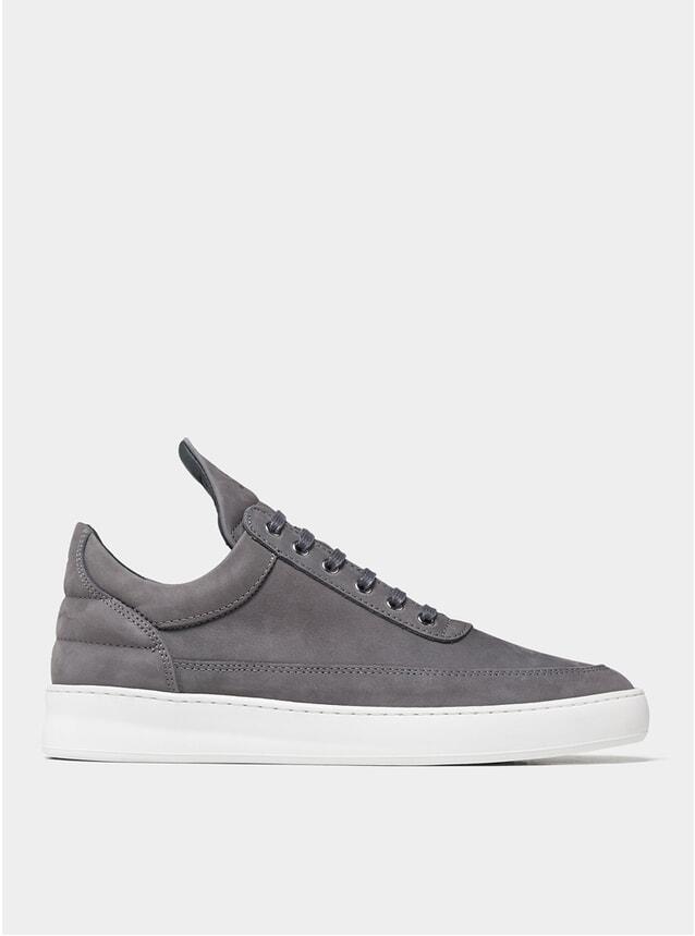 Dark Grey Low Top Plain Sneakers