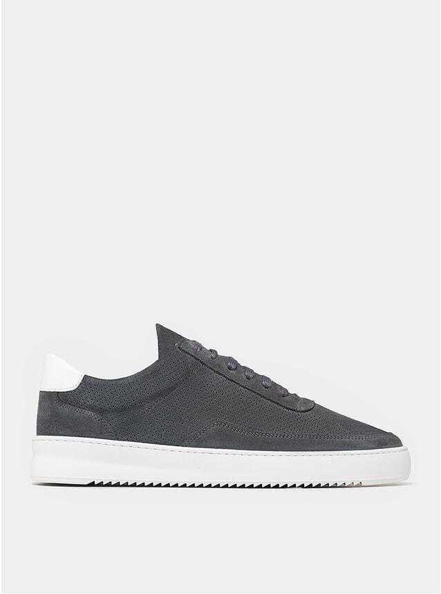 Dark Grey Perforated Mondo Ripple Sneakers