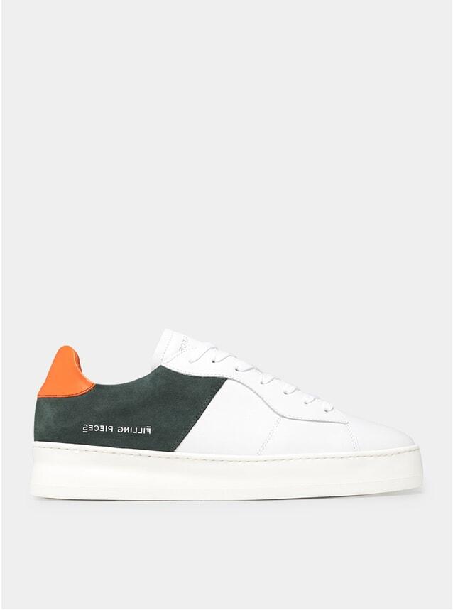 Green / Orange Low Court Plain Sneakers
