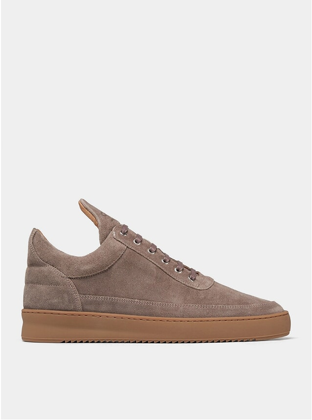 Gum Taupe Low Top Ripple Sneakers