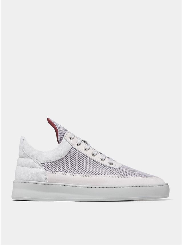 Light Grey Low Top Plaid Infinity Sneakers
