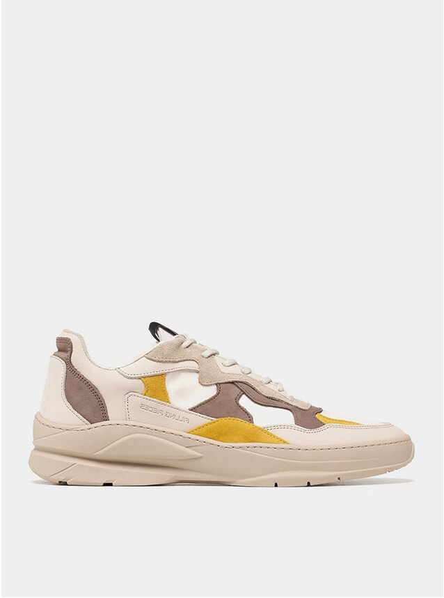 Mix Brown Low Fade Cosmo Sneakers