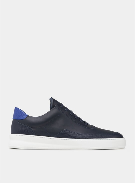 Navy Blue Low Mondo Sneakers