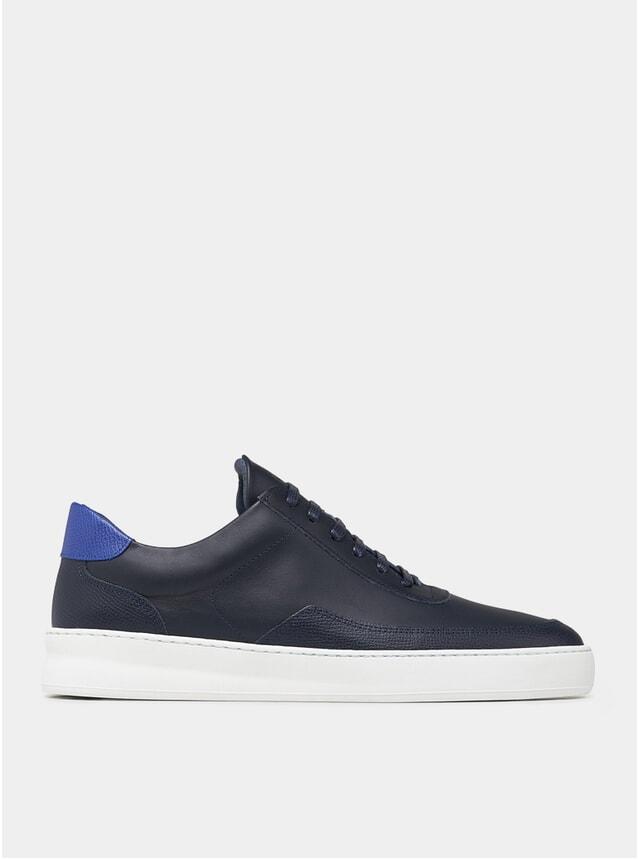 Navy Blue Low Mondo Sneakers