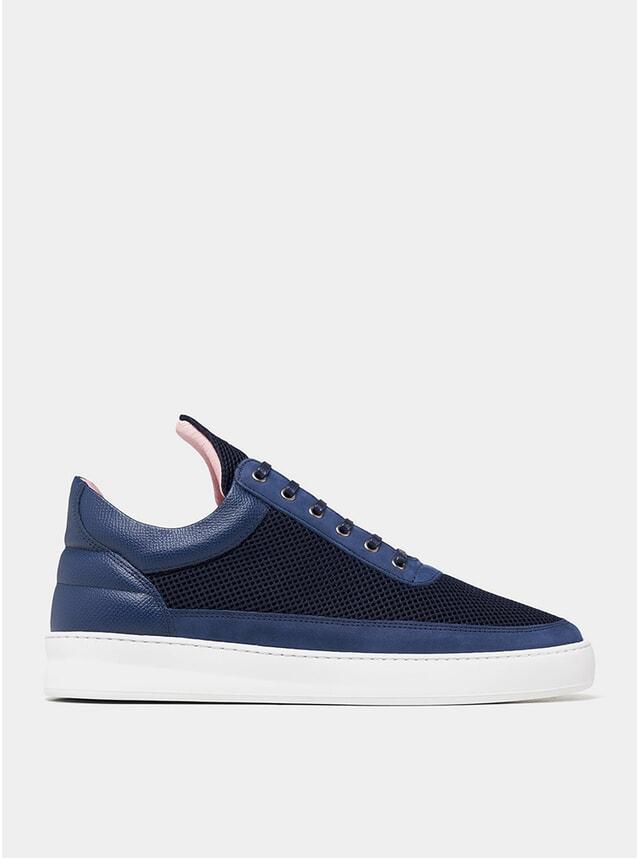 Navy Blue Low Top Plain Infinity Sneakers