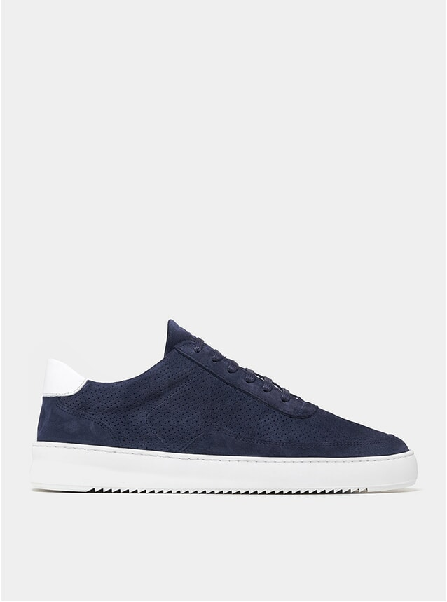 Navy / White Perforated Mondo Ripple Low Sneakers