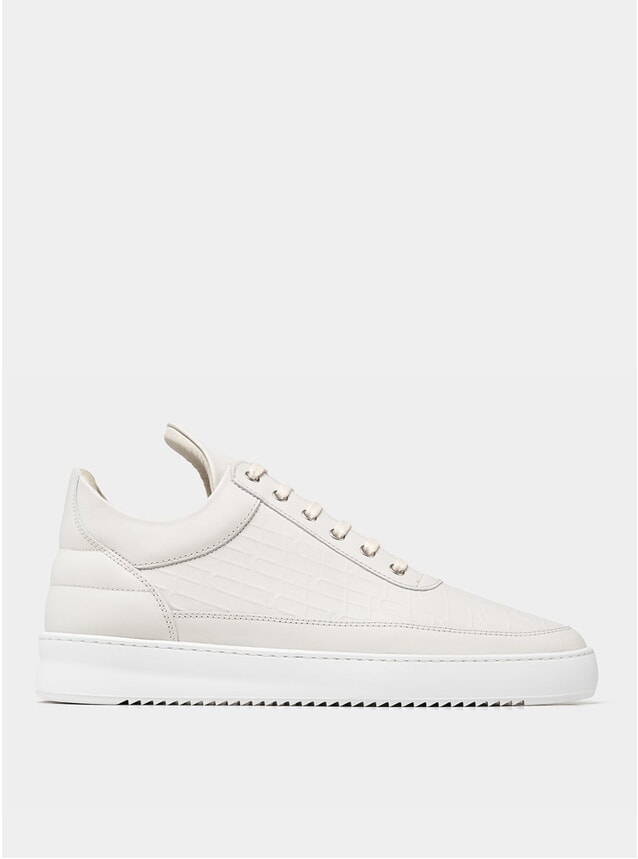 Off White Low Top Ripple Mono Sneakers