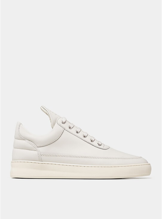 Off White Nappa Low Top Plain Sneakers