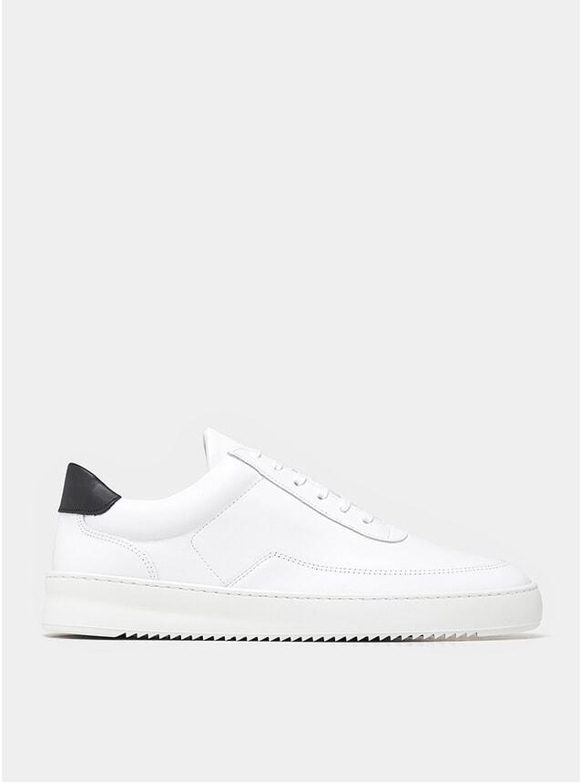 White / Black Mondo Ripple Nappa Sneakers