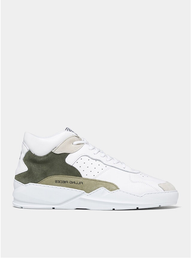 White / Green Lay Up Icey Flow 2.0 Sneakers