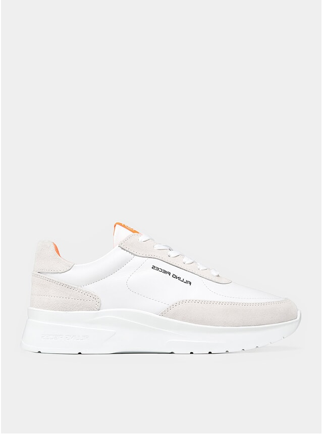 White / Pink Moda Jet Runner Sneakers