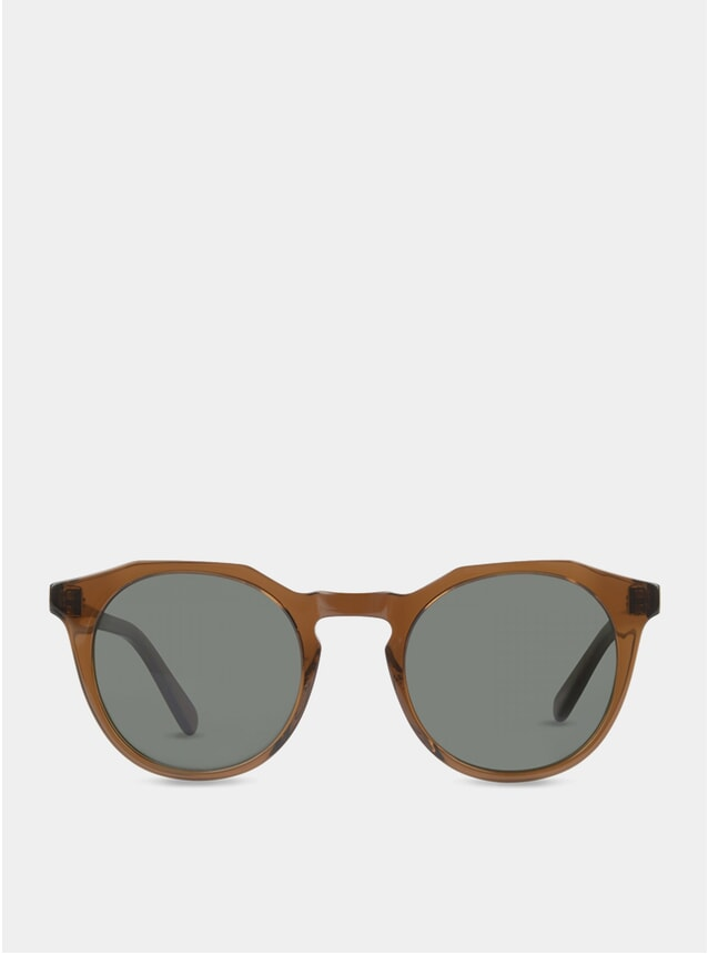Dark Rum / Green Archer Sunglasses