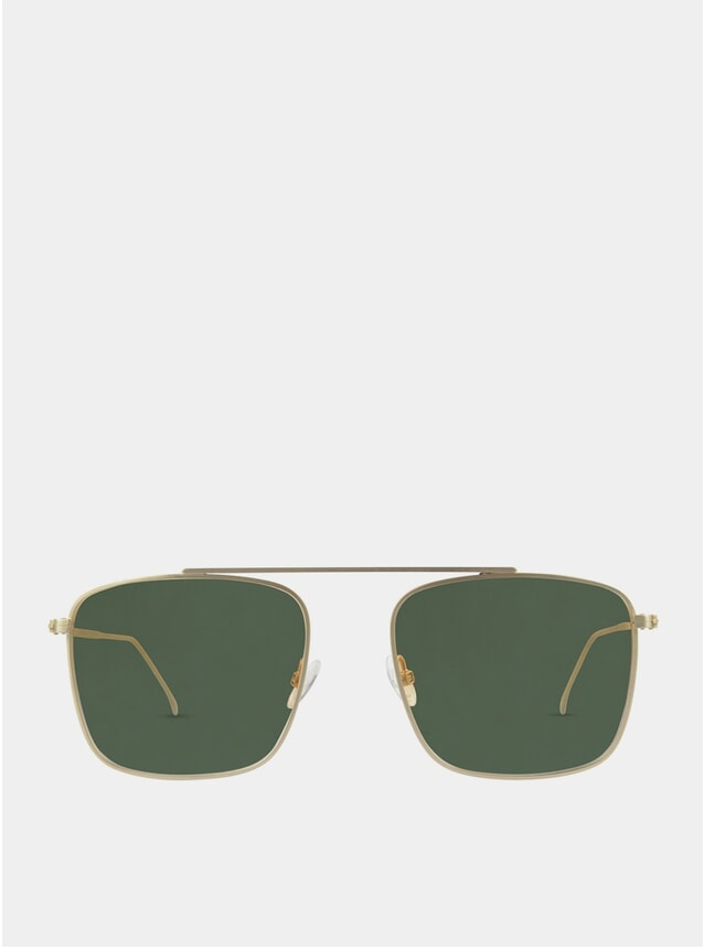 Gold / Green Parker Sunglasses
