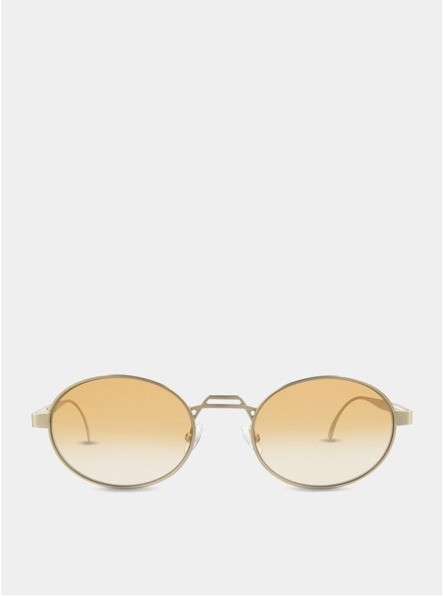 Gold / Orange-White Nelson Sunglasses
