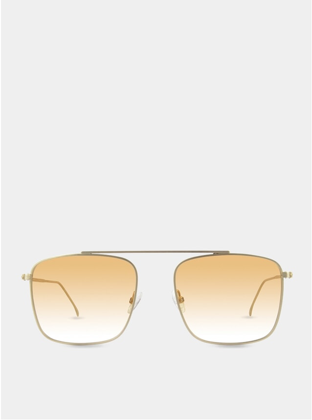 Gold / Orange-White Parker Sunglasses