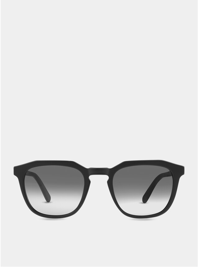Matte Black / Grey-White Marshall Sunglasses