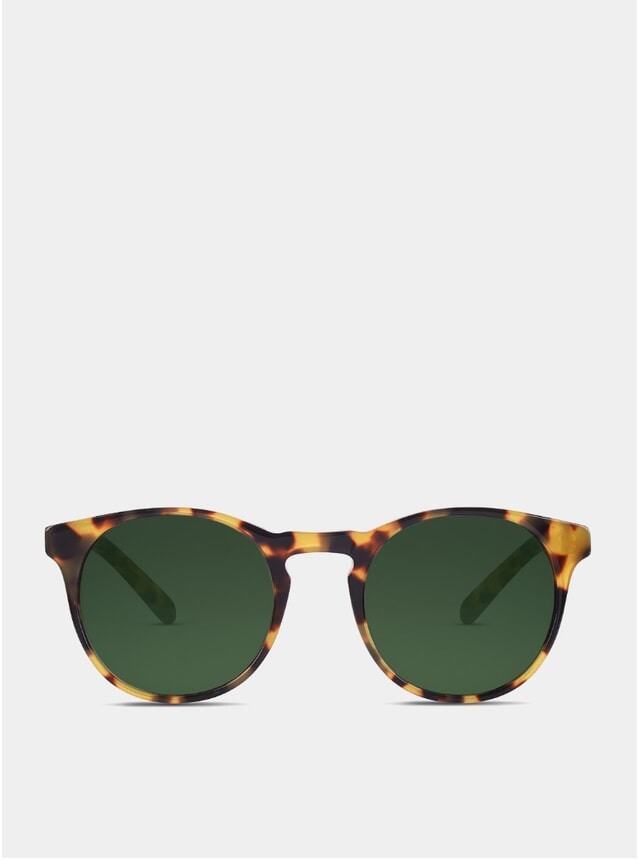 Light Tortoise / Green Percy Sunglasses