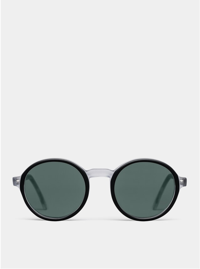 Black / Crystal Matte Rounder Sunglasses