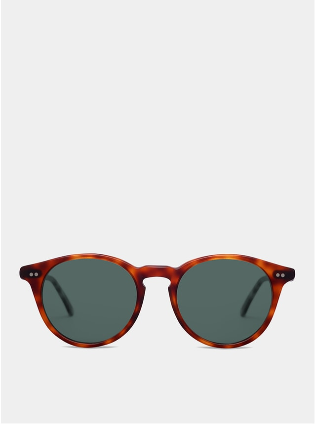 Dark Brown Matte Goldlover Sunglasses