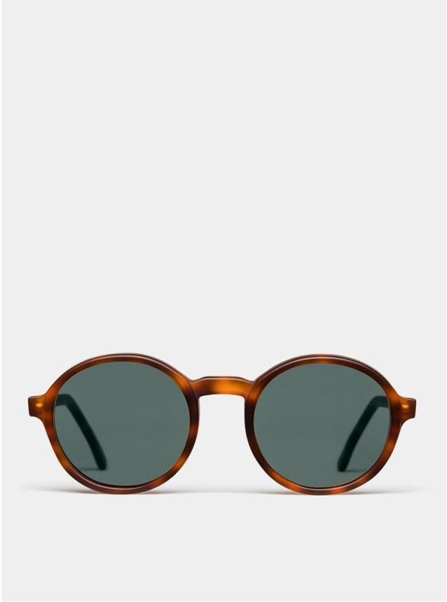 Dark Brown Matte Rounder Sunglasses