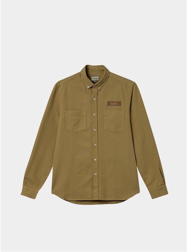 Olive Bear Canvas Shirt