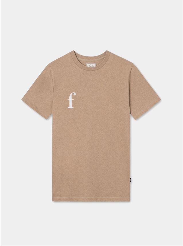 Beige Melange Fern T Shirt