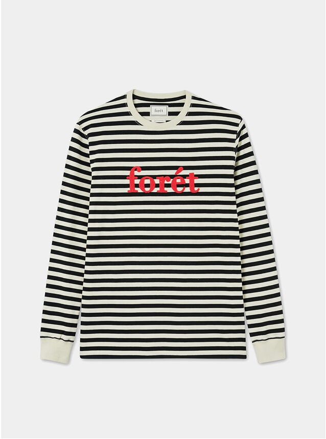 Cream / Black Timber Longsleeve T Shirt