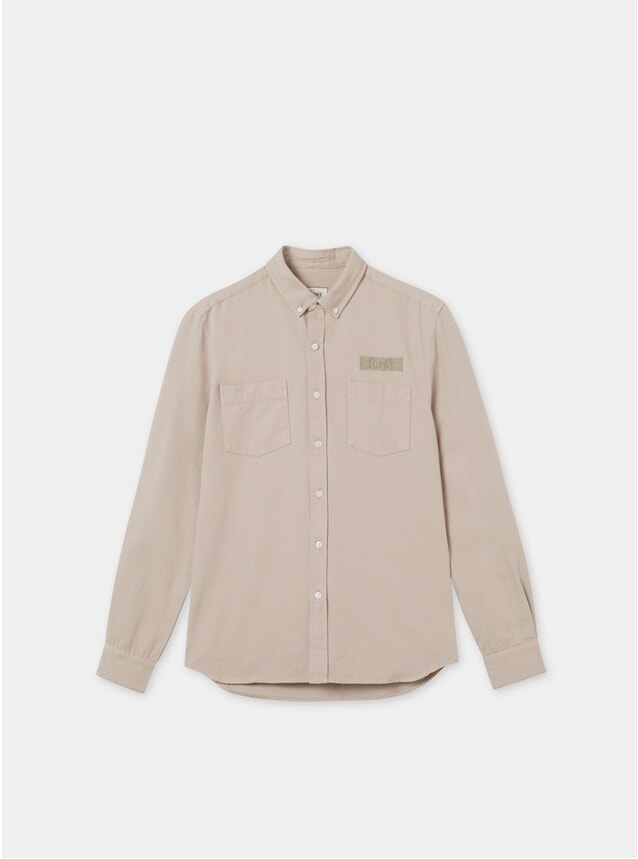 Khaki Bear Canvas Shirt