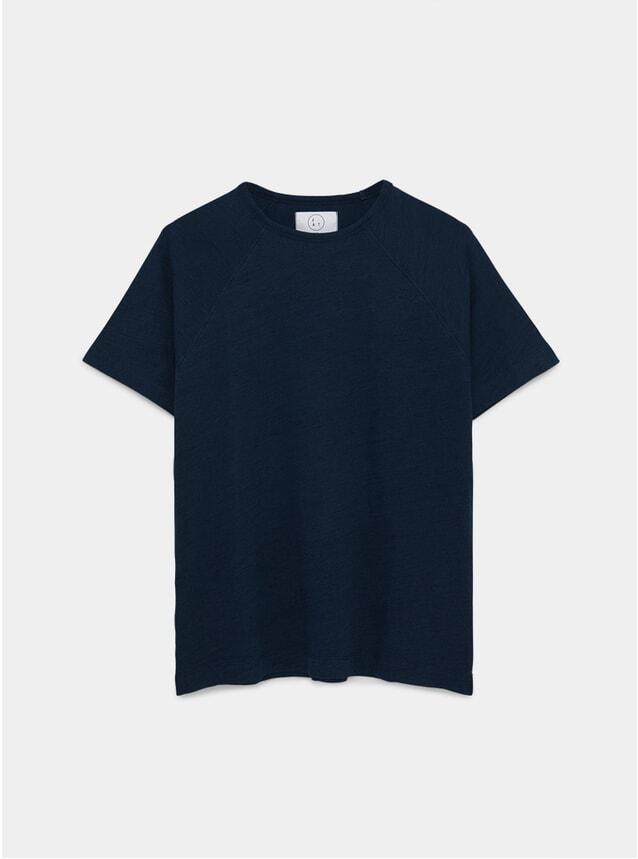 Indigo Raglan T Shirt