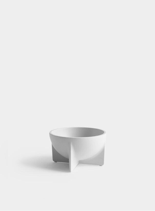 Bone White Small Standing Bowl
