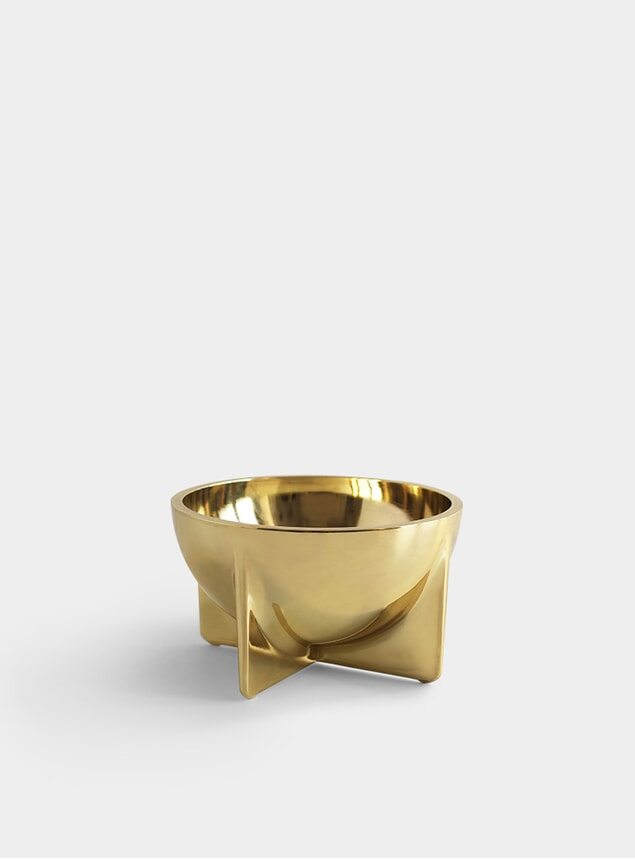Small Brass Standing Bowl