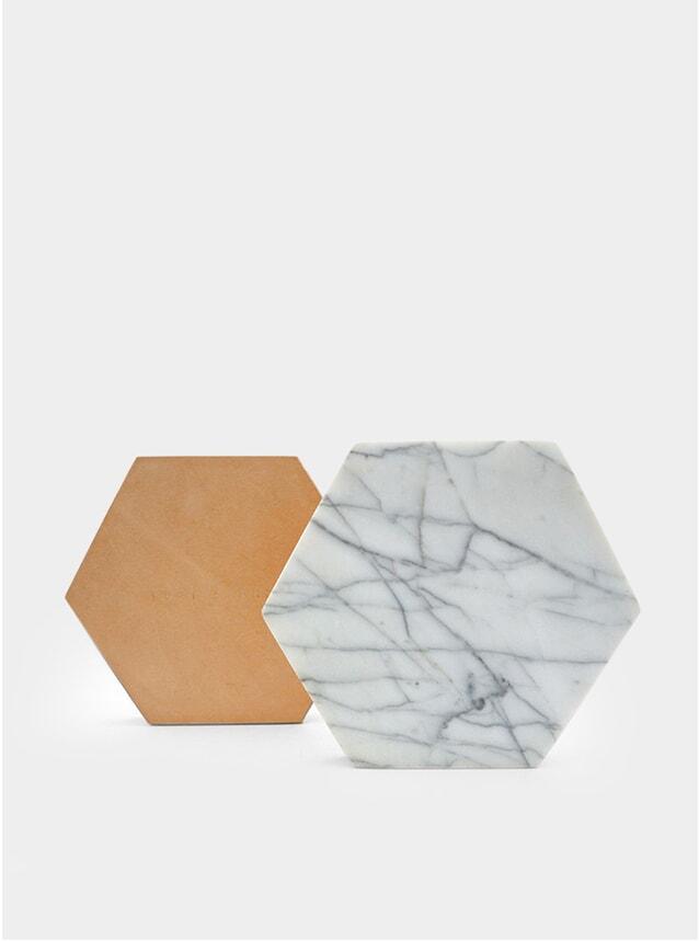 White Carrar Marble Trivet