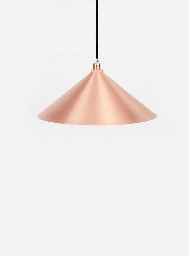 Medium Copper Cone Pendant
