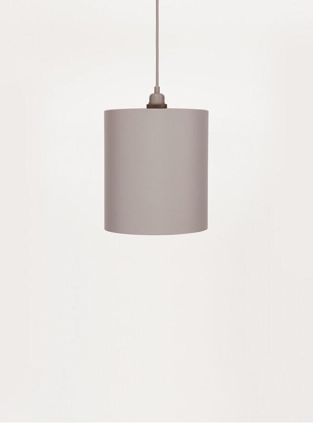 Medium Grey Cylinder Pendant