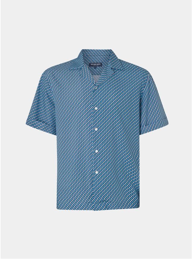 Aqua / Faded Blue Pepe Camp Collar Shirt