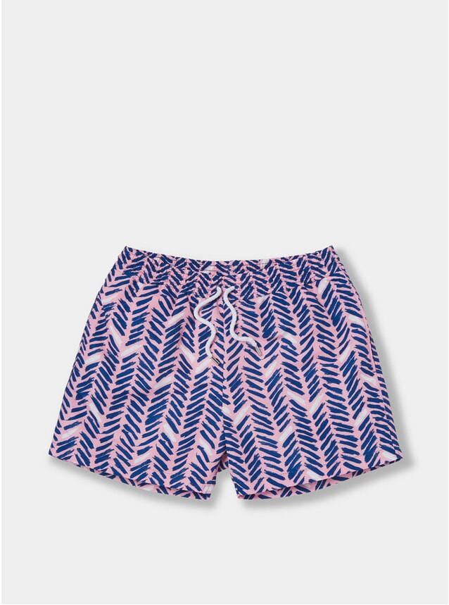 Navy / Soft Shell Pink Pira Sport Swim Shorts