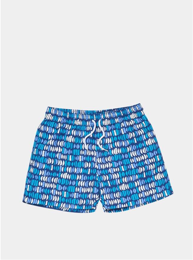 Navy / Pool Blue Aquarela Swim Shorts