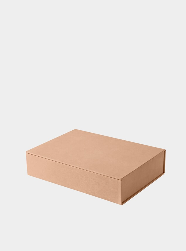 Large Natural Pure Leather Box