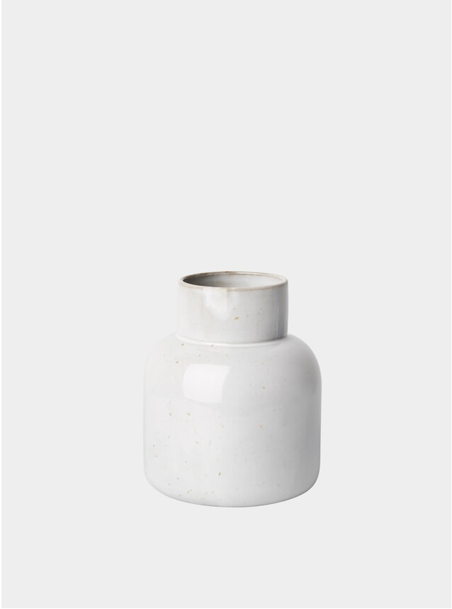 Pale Grey Jar Vase