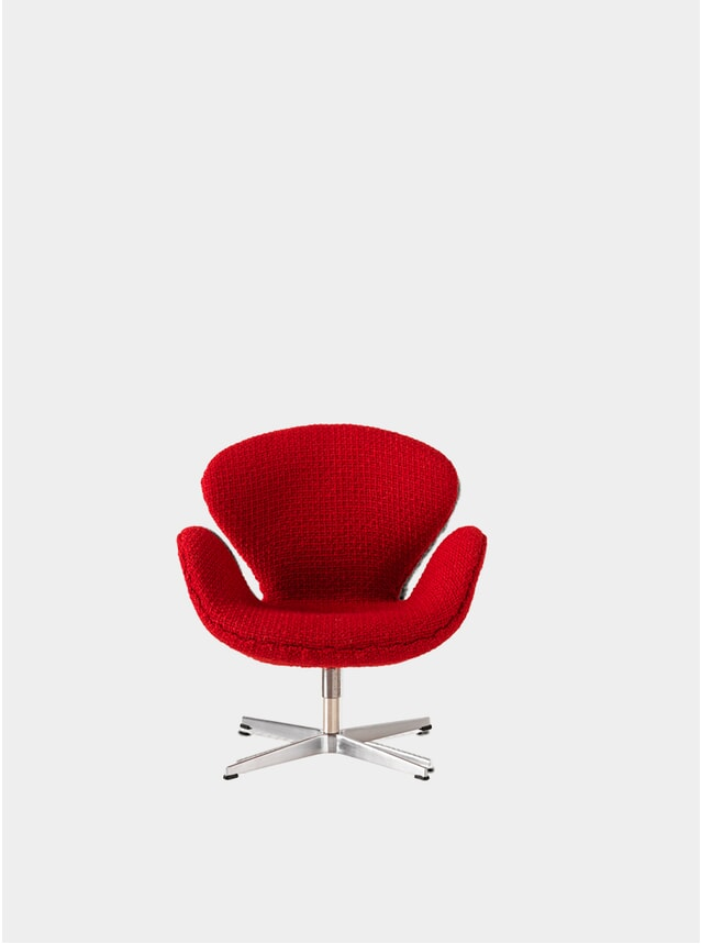 Red Miniature Swan Chair
