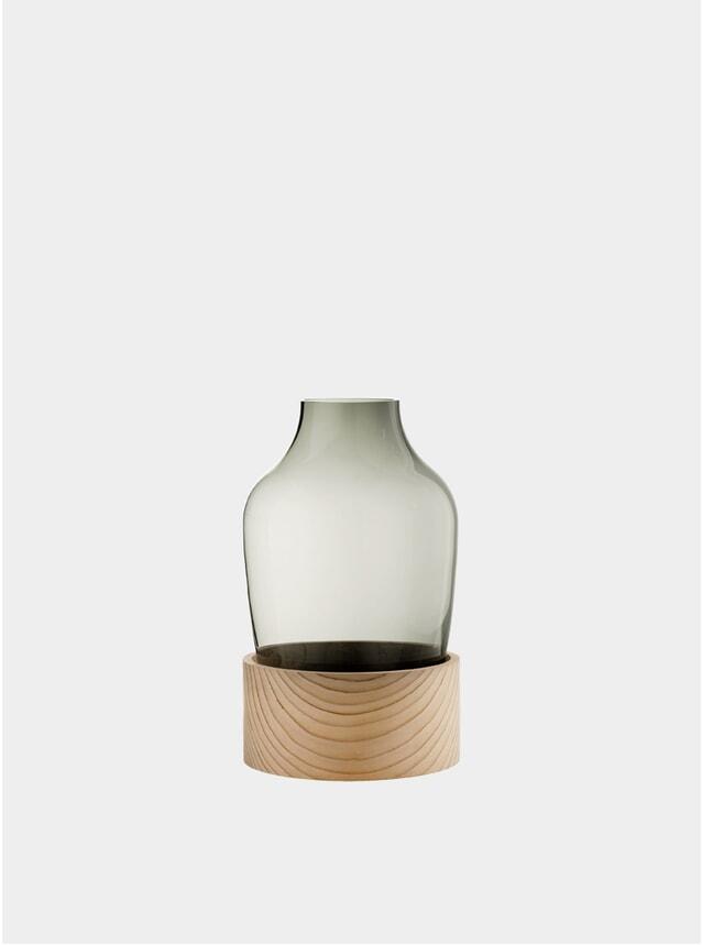 Smoke Glass / Cedar High Vase