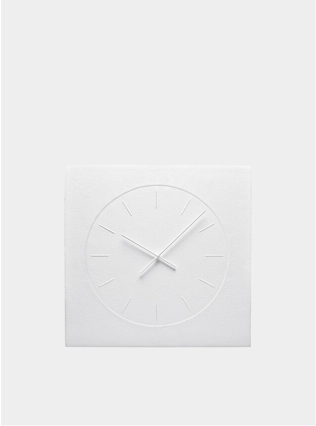 White Cotton Paper Wall Clock