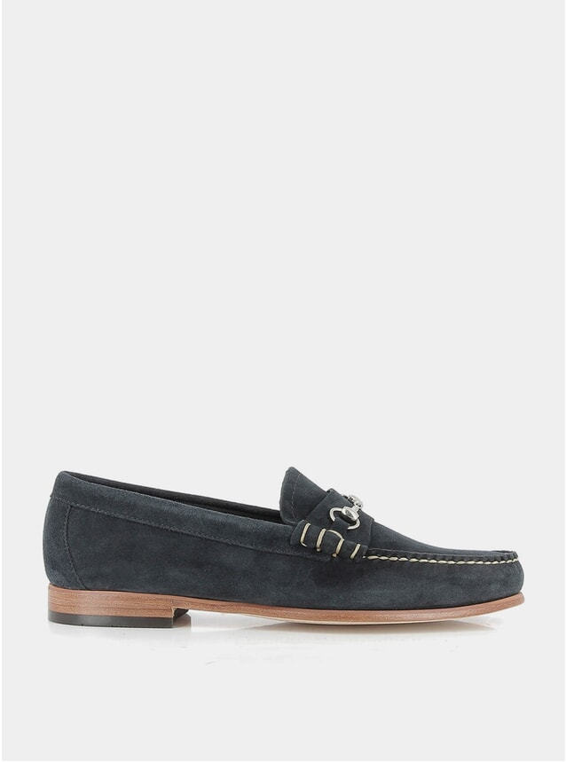 Navy Suede Palm Springs Lincoln Reverso Loafers